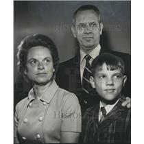 1970 Press Photo Max Dailey Family of East Lake United Methodist Church