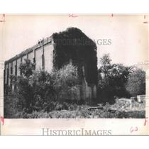 1971 Press Photo Old building that was part of sawmill complex in TX ghost town