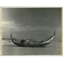 1952 Press Photo Boat Of Sardine Fishermen At Lisbon, Portugal - mjc07894