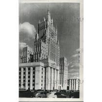 1955 Press Photo Moscow skyscraper by Chief architect Alexander V. Vlasov