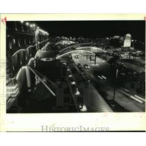 1993 Press Photo Traffic blurs through the Grand Casino drop off in Gulfport