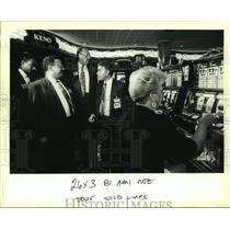 1993 Press Photo New Orleans City Councilmen tour the Grand Casino - nob24032