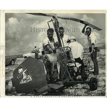 1967 Press Photo New Orleans' licensed gyrocopter pilots test the Sopwith Camel
