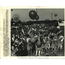 1987 Press Photo Girl Scouts' Unit 645 at 75th year of Girl Scouting celebration