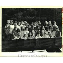 1988 Press Photo Cadet Girl Scout Troop 633 visits the Great Smokey Mountains