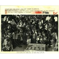 1987 Press Photo Unit 645 at 75th year celebration of Girl Scouting, Terrytown