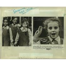 1987 Press Photo Brownies, part of Troop 1879, meeting in New Rochelle, New York