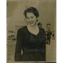 1955 Press Photo Monty Gillham, Mariner Girl Scout returned to New Orleans