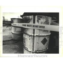 1991 Press Photo Hazardous waste found at site outside of Abita, Louisiana