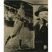 1951 Press Photo Bob Feller with Baseball Photo - sas11402