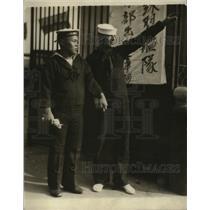 1925 Press Photo Two Japanese Sailors walk through the streets - nem62355