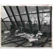 1970 Press Photo Reception room for Goodyear Airship Base - Houston - hca23138