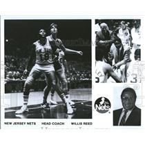 Press photo New Jersey Nets Head Coach Willis Reed - RRQ46153
