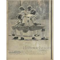 1974 Press Photo San Diego Charger rookies. - RRQ51303