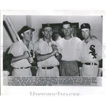 1954 Press Photo Chicago White Sox After Win Rivera - RRQ52539