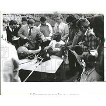 1984 Press Photo Willie James Wilson Kansas City Royals - RRQ59483