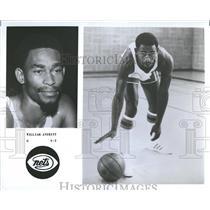 1977 Press Photo William Averitt New Jersey Nets team - RRQ59665