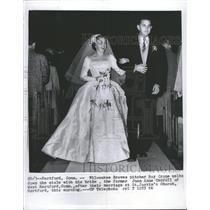 1955 Press Photo Raymond Hayes Crone Milwaukee Braves - RRQ60875