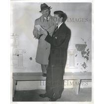 1934 Press Photo Jimmy Grogan Coach Eddie Schoidan - RRQ63107