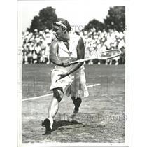 1937 Press Photo Polish Tennis Great Jadwiga Jedrzejowska - RRQ71471