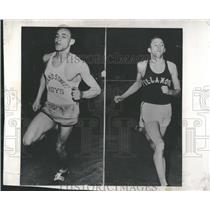 1938 Press Photo Fred Dwyer and Mel Whitfield at the BAA meet - RRQ70079