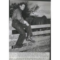 1941 Press Photo Mickey Owen Springfield Farm Horse - RRQ11265