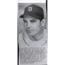 1950 Press Photo Detroit Tigers Johnny Lipon - RRQ35307