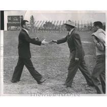 1951 Press Photo Ted Shipkey Montana Huskies Howie Turf - RRQ66409