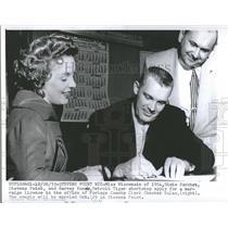 1955 Press Photo Dixie Sarchet Harvey Kuenn C. Kulas - RRQ56713