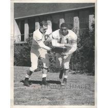 1956 Press Photo Ed Johnson and Ray Vann Drill For Upco - RRQ67665