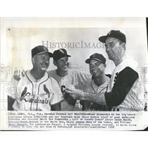 1956 Press Photo Terry Moore St. Louis Cardinals Baseball Team Coach - RRQ68911