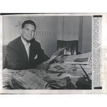 1958 Press Photo Frank Lane Chicago White Sox - RRQ32249