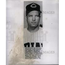 1958 Press Photo Cleveland Indians Vic Woodrow Injured - RRQ42887