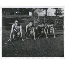 1963 Press Photo Don Floman Miler Castonguay Paul Edry George Hinteregger