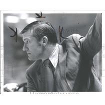 1971 Press Photo Johnny Wilson Detroit Red Wings Hockey - RRQ41547