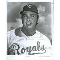 1972 Press Photo Paul Schaal baseball infielder Kansas City Royals Snap