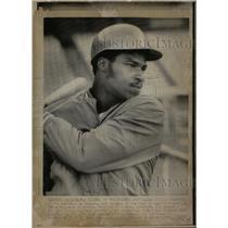 1974 Press Photo Willie Crawford Los Angeles Dodgers - RRQ42163