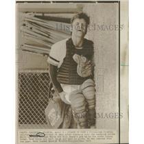 1975 Press Photo Pittsburgh Pirates Duffy Dyer Injury - RRQ39263