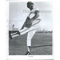 1975 Press Photo Jim Bibby/Texas Rangers/Baseball Pitcher/St. Louis Cardinals