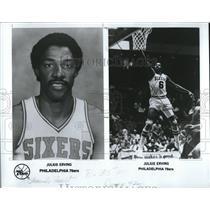 1980 Press Photo Julius Erving Philadelphia 76ers - RRQ09467