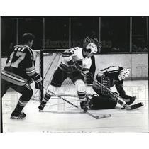 1981 Press Photo Rockies Gagne Blackhawks Liut Kea - RRQ09187
