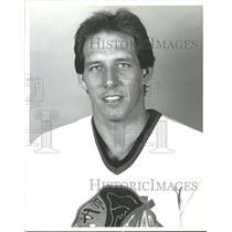 1989 Press Photo Al Secord of the Chicago Blackhawks - RRQ55507