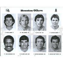 1996 Press Photo Oilers James Joiner Kay Kempf Kennard - RRQ56613