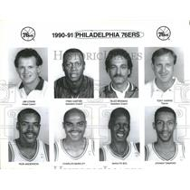 Press Photo Philadelphia 76ers Basketball Team Members - RRQ14557