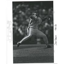 Press Photo John Franco Left Handed Relief Pitcher Mets - RRQ31013