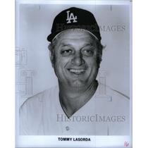 Press Photo Los Angeles Dodgers Manager Tommy Lasorda - RRQ42843