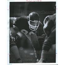 Press Photo Kansas City Chiefs Player Bell Ready Line - RRQ62015