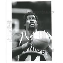 Press Photo Michael Cage Seattle Supersonics Basketball - RRQ62353