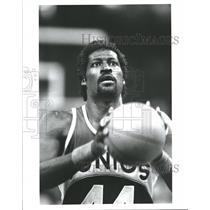 Press Photo Michael Cage Seattle Supersonics Basketball - RRQ62353