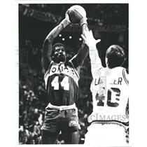 Press Photo Michael Cage Seattle Supersonics Basketball - RRQ62355